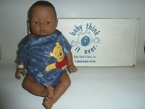 RealCare BABY THINK IT OVER Doll Boy Baby Infant Male Dark Skin INTERACTIVE