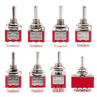 Mini 6mm Toggle Switch 3/6/9/12 Pin ON-ON (ON)-OFF-(ON) 5A/125VAC 2A/250VAC A2