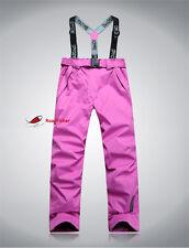 Womens Girl Winter Waterproof Snow Pants Sport Ski Trousers Snowboard Clothing