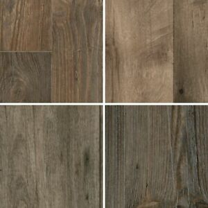 TAPETENSPEZI PVC Bodenbelag Landhausdiele Dunkel Fu/ßbodenbelag Gewerbe//Wohnbereich Vinyl Planken strapazierf/ähig /& pflegeleicht Vinylboden in 3m Breite /& 5,5m L/änge Fu/ßbodenheizung geeignet