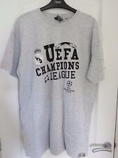 REAL MADRID CHAMPIONS LEAGUE GREY T-SHIRT SIZE XL BRAND NEW WITH TAGS
