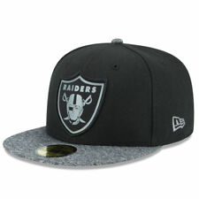 Oakland Raiders football new era cap gorra fitted 59 fifty talla 7 3/8 Grey col