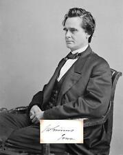 James W Grimes Autograph Senator Governor Iowa New Hampshire Naval Affairs Peace