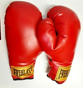 Vintage Everlast 12 Oz RED Boxing Gloves - Yellow tag