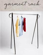 62 X 19 X 54 Height Commercial Single Bar Black Clothing Rack Retail Display