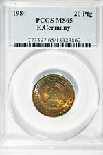 1984 E.Germany PCGS MS65 20 Pfennig