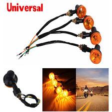 100% Brand New Motorcycle Amber Round Turn Signal Direction Indicator Light Lamp