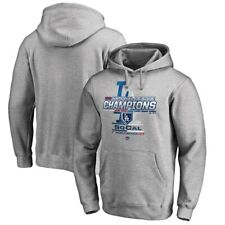 Men's Los Angeles Dodgers 2018 NL Champs Pullover Hoodie Gray 2XL by Majestic