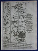 WILTSHIRE, CHIPPENHAM, BRISTOL, SOMERSET, original antique road map, Bowen, 1759
