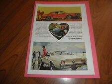 "1967 FORD MUSTANG  AD-""Bred first...to be first""-Original Magazine Print"