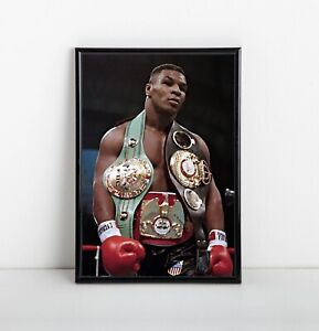 Mike Tyson Poster | Exclusive Framed Art | Heavyweight Boxing Champ | NEW | USA