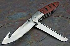 Couteau Browning Hunt'n Gut Hardwood 2 Lames Acier 8Cr13MoV Manche Bois BR0053
