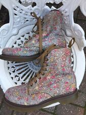 Doc Martens Page Limited Edition 1460 8hole Uk5/38 VGC  Canvas Boots