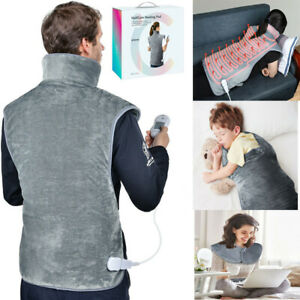 Electric Heating Pad Soft Mat Blanket Wrap for Back Neck and Shoulder Pain Relif