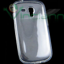 Pellicola+Custodia AIR cover TPU trasparente per Samsung Galaxy S3 Mini i8190