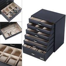 Schmuckkasten Schmuckkoffer 6 Schicht mit Schubladen Uhrenbox Schmuckschatulle