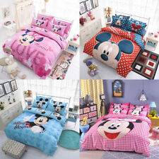 Mickey Mouse Minnie Single KS Double Queen Size Bed Quilt Doona Duvet Cover Set