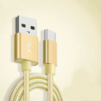 Cable Metal Nylon Reinforced USB Charger / Type C 1,5m Braid Gold Colour (