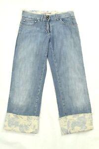 Roberta Scarpa Women's Blue Jeans Capri Cuffed Denim Size 4 Made In Italy