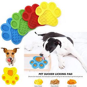 Non-Slip Silicone Dog Lick Pad Pet Food Feeder Bowl Puppy Cat Lick Mat Healthy
