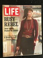 LIFE MAGAZINE - Apr 23 1971 - JANE FONDA / Samuel Schulman of SuperSonics / NBA