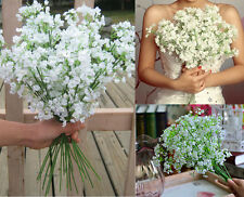 Lot 6pc Artificial White Silk Baby's Breath Flower Bunch For Wedding Party Decor
