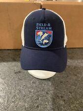 New Field & Stream Men's Shield Trucker Hat Navy Osfm $20 Fishing Logo Shark