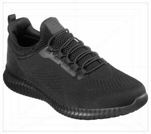 Skechers 77188 Men's Work Relaxed Fit Cessnock SR Black