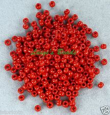 8/0 Round TOHO Japanese Glass Seed Beads #45-Opaque Pepper Red 10 grams
