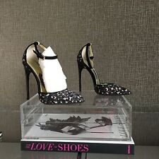 Sexy Tom Ford Black Lace Ankle Strap Stilettos Heels Pumps Size 38.5 US 8.5