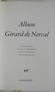 Album Gérard de Nerval la Pléiade 1993