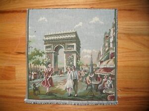 Tapestry Italian Unfinished Panel Paris Arc 14 x 14 inches free shipping