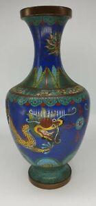 Antique chinese cloisonne dragon vase vintage chinesecloisonne vintagecloison