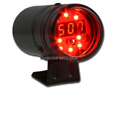 Red Led DIGITAL TACHOMETER & RED RPM SHIFT LIGHT + BLACK BODY 4/6/8 CYL