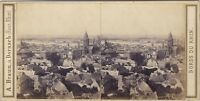 Germania Panorama Da Mainz Magonza Foto A. Braun Stereo Vintage Albumina c1860