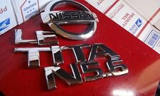 04-2010 Nissan Titan Chrome 5.6 LE Rear Nameplate Emblem Badge OEM rear gate set