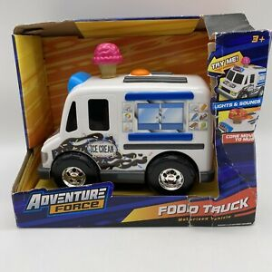 Toy Food Truck Ice Cream Lights & Sounds Adventure Force Motorized Vehicle HTF