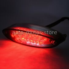12V BRAKE TAIL LIGHT RED 28 LED LICENSE PLATE FOR MOTORCYCLE BOBBER CAFE RACER