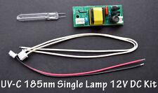 UV-C 185nm Ozone Generator U-shape 50mm x 8 x 50mm  Single Lamp Bulb 12V DC Kit