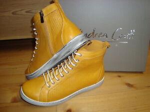 Andrea Conti Sneaker high ocker weiß Leder Damen Gr. 38