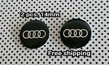 Audi 14mm. Remote key fob logo Emblem badge sticker 2 pcs.