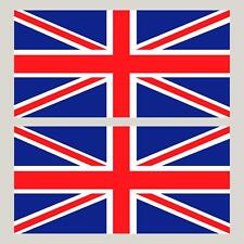 "2 Union Jack England Flag decals GB stickers  4"" x 2"""