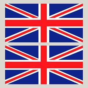 "2 Union Jack England Flag decals GB stickers  4"" x 2"""