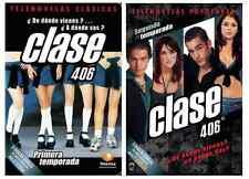 "TELENOVELAS* CLASE 406 DVD""s * Season 1 & 2 * Primera & Segunda Temporada * Used"