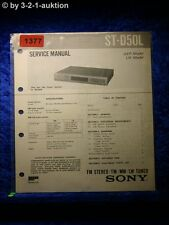 Sony Service Manual ST D50L Tuner  (#1377)