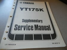 1983 YT175 K Supplimentery service Manual 17 PGS