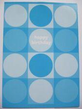 Colourful Blue Circles Gloss Coated Blank Birthday Greeting Card