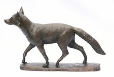 Fox Bronze - Resin Sculpture Hunting gift boxed  NEW