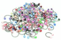 LOT100PCS 16G~1.2mmX10X4MM  Lip Eyebrow Captive Bead Rings CBR Ball Horseshoes