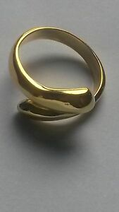 24K YELLOW GOLD PLATED  PLANTINUM  ADJUSTABLE THUMB/FINGER  GOLD PLATED RING